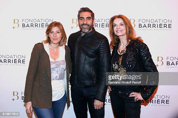 Writer Amanda Sthers Actor Ary Abittan and Actress Cyrielle Clair attend the Premiere of 'Five' Laureat Du Prix Cinema 2016 Fondation Diane And...
