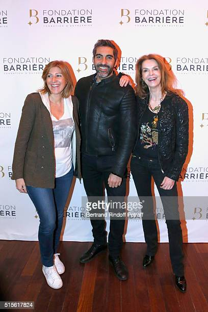 Writer Amanda Sthers Actor Ary Abittan and Actress Cyrielle Clair attend the Premiere of Five Laureat Du Prix Cinema 2016 Fondation Diane And Lucien...