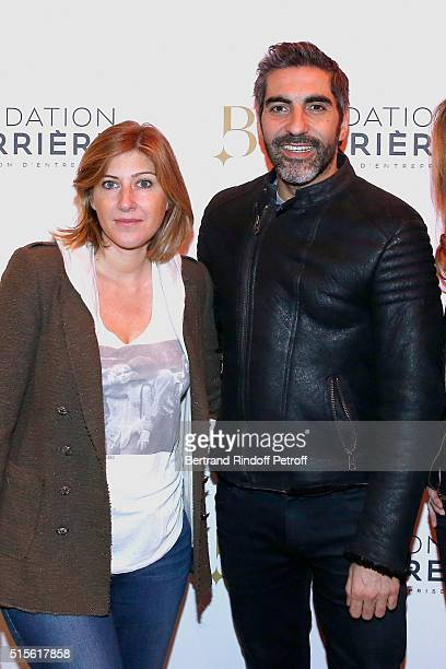 Writer Amanda Sthers and Actor Ary Abittan attend the Premiere of 'Five' Laureat Du Prix Cinema 2016 Fondation Diane And Lucien Barriere Held at...