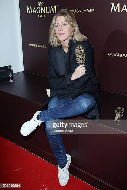 Writer Amanda Sthers attends the Magnum Paris Concept Store Opening on April 14 2016 in Paris France