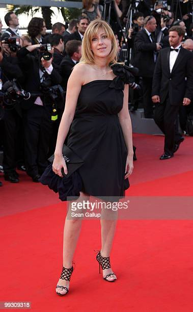 Writer Amanda Sthers attends the Wall Street Money Never Sleeps Premiere at the Palais des Festivals during the 63rd Annual Cannes Film Festival on...