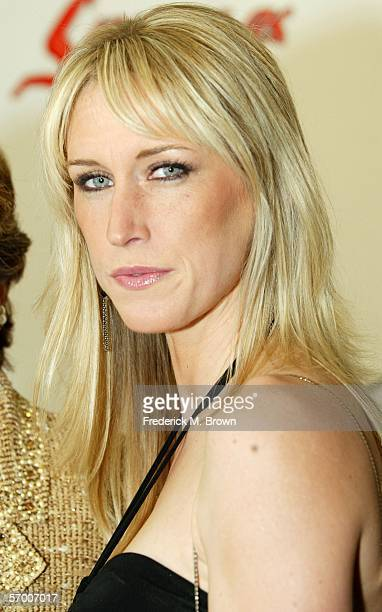 Writer Amber Frey arrives at the Norby Walters' 16th Annual Night Of 100 Stars Oscar Gala held at the Beverly Hills Hotel on March 5 2006 in Beverly...