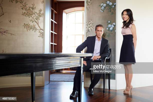 Writer Amy Chua and husband Jed Rubenfeld are photographed for The Guardian Newspaper on January 17 2014 in New York City PUBLISHED IMAGE