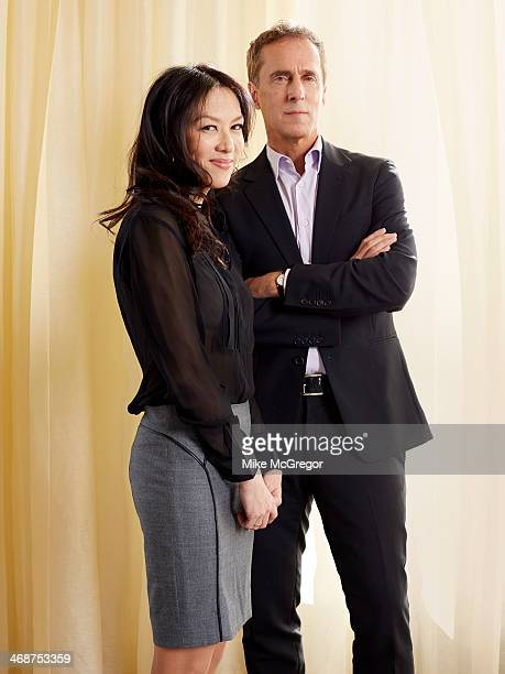 Writer Amy Chua and husband Jed Rubenfeld are photographed for The Guardian Newspaper on January 17 2014 in New York City