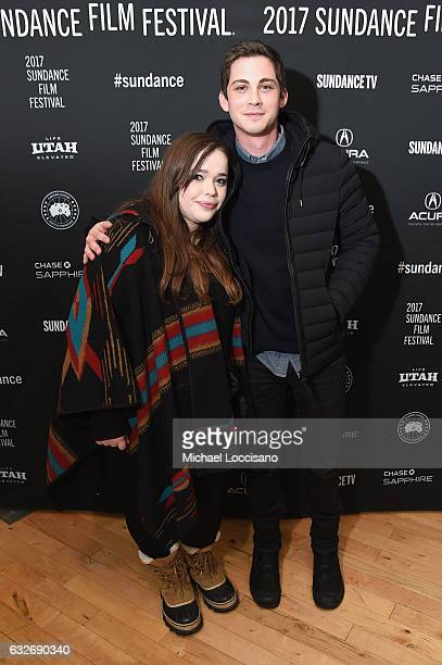 Writer Amy Kaufman and Logan Lerman attend the Cinema Cafe at Filmmaker Lodge on January 25 2017 in Park City Utah