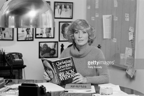 Writer and actress Christina Crawford with her first novel Black Widow