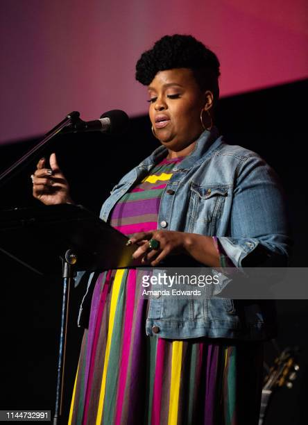 Writer and actress Natasha Rothwell attends a celebrity live reading to benefit homeless charities hosted by The Midnight Mission and Homeward LA at...