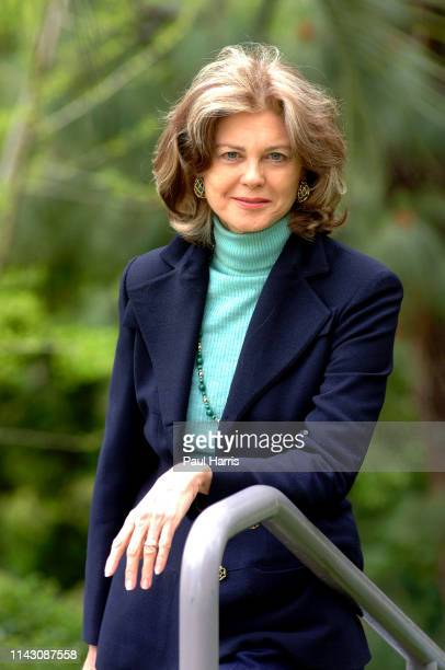 Writer and artist Maria Janis Cooper daughter of American screen icon Gary Cooper photographed April 6 2002 at the Ritz Carlton Hotel Pasadena Los...