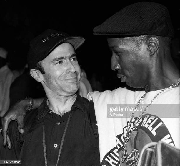 """Writer and Author of """"Break It Down"""" Michael Small and Grandmaster Flash attend an album-release party for A Tribe Called Quest's """"The Low End..."""