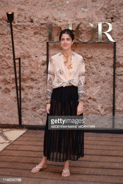 US writer and blogger Leandra Medine attends the Christian Dior Croisiere 2020 collection fashion show at Badi palace in the Moroccan city of...
