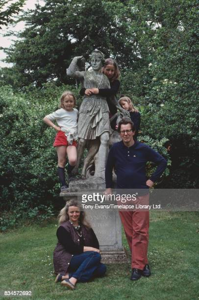 Writer and broadcaster Polly Devlin with husband Andy Garnett and their daughters Rose Daisy and Bay July 1981