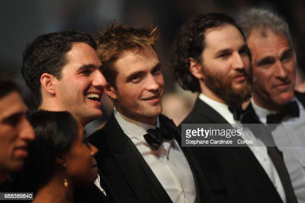 Writer and codirector Ben Safdie actor Robert Pattinson and Codirector Joshua Safdie attend the 'Good Time' screening during the 70th annual Cannes...