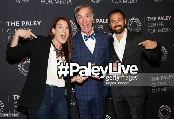 Writer and comedian Joanna Hausmann educator television presenter and mechanical engineer Bill Nye and science communicator filmmaker and television...