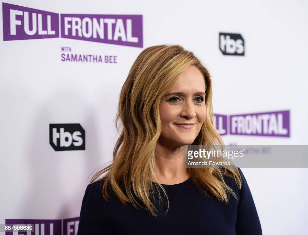 Writer and comedian Samantha Bee arrives at TBS' Full Frontal With Samantha Bee For Your Consideration Event at the Samuel Goldwyn Theater on May 23...