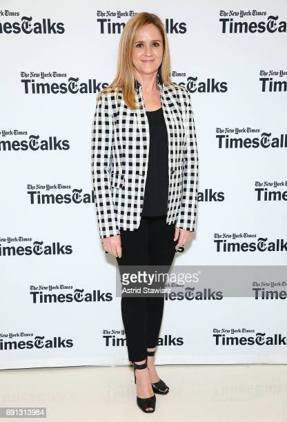 Writer and comedian Samantha Bee attends TimesTalks with Samantha Bee and Jason Jones at New School's Tischman Auditorium on June 1, 2017 in New York...
