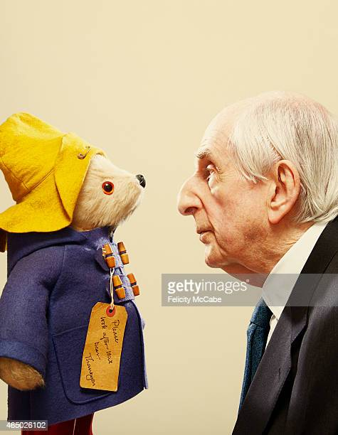 Writer and creator of celebrated children's book Paddington Bear Michael Bond is photographed for Tatler magazine on October 23 2013 in London England