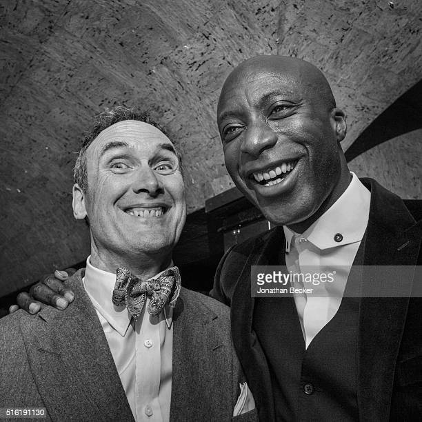 Writer and critic Adrian Anthony Gill and unidentified guest are photographed at the Charles Finch and Chanel's Pre-BAFTA on February 7, 2015 in...