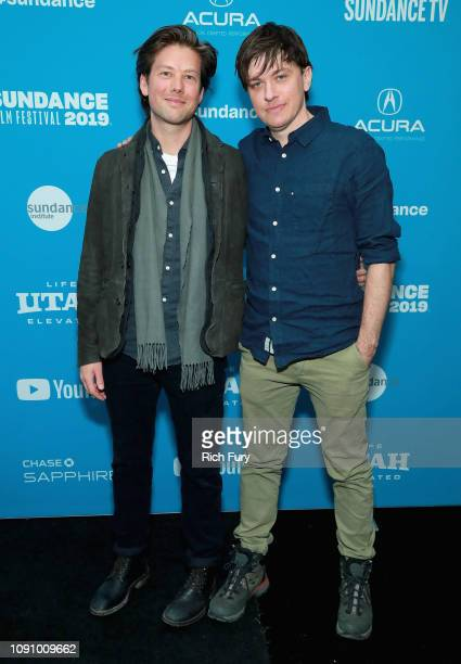 Writer and director Abe Forsythe and composer Piers Burbrook de Vere attend the 'Little Monsters' Premiere during the 2019 Sundance Film Festival at...
