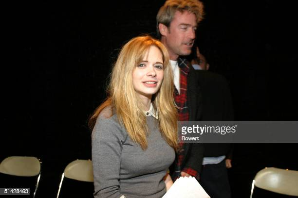 Writer and director Adrienne Shelly attends a reading of 'Waitress' presented by the Womens Expressive Theater company at the 13th Street Theater on...