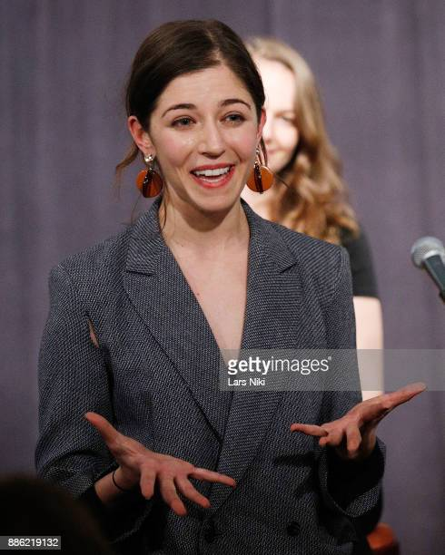 Writer and director Annabelle Attanasio addresses the audience during The Hamptons International Film Festival's Screenplay Reading of Mickey and the...