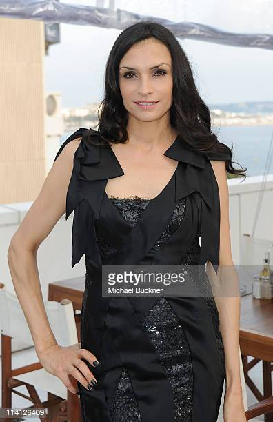 Writer and director Famke Janssen attends the 'Bringing Up Bobby' party during the 64th Annual Cannes Film Festival at La Terrasse on May 12 2011 in...