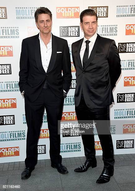 Writer and director John Miller and writer and producer Nick Knowles attends the UK film premiere of 'Golden Years' at the Odeon Tottenham Court Road...