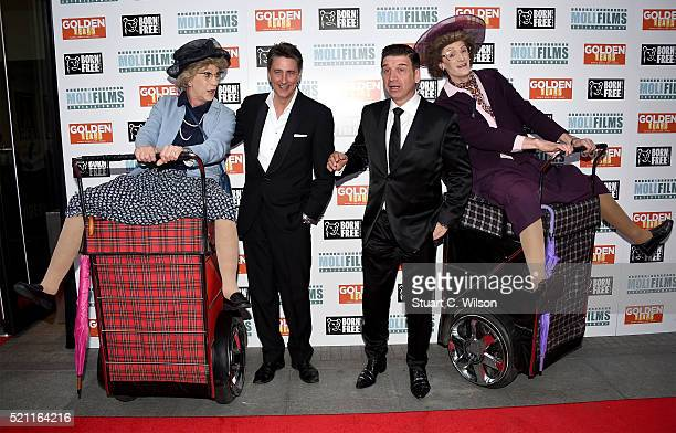 Writer and director John Miller and writer and producer Nick Knowles attend the UK film premiere of 'Golden Years' at the Odeon Tottenham Court Road...