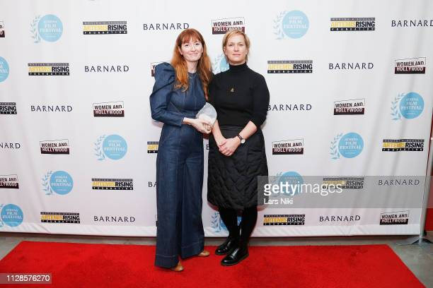 Writer and director Marielle Heller and Archer Gray president of production Anne Carey attend the 2019 Athena Film Festival awards ceremony at the...