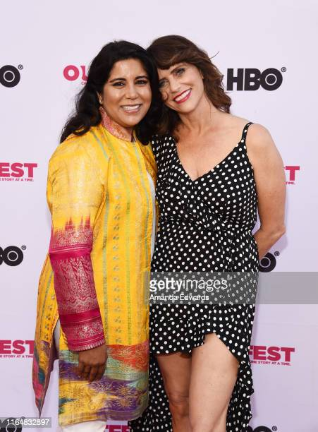 Writer and director Nisha Ganatra and Amy Landecker arrive at the 2019 Outfest Los Angeles LGBTQ Film Festival Closing Night Gala Premiere of Before...