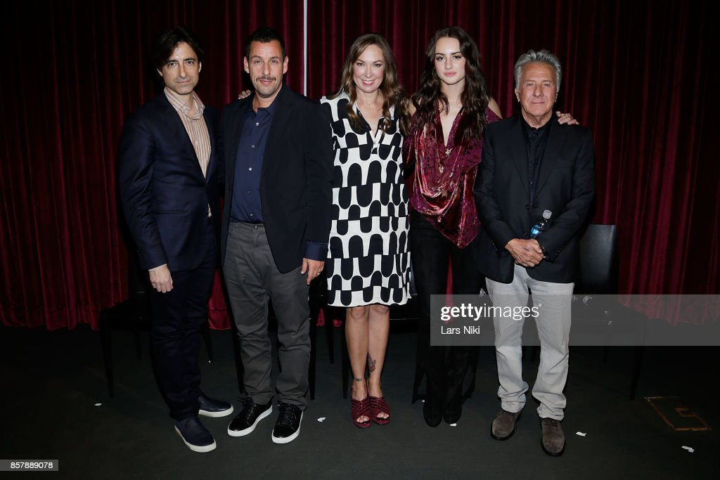 Writer and director Noah Baumbach, actor Adam Sandler, actress Elizabeth Marvel, actress Grace Van Patten and actor Dustin Hoffman attend The Academy of Motion Picture Arts & Sciences official academy screening of The Meyerowitz Stories (New and Selected) at the MOMA Celeste Bartos Theater on October 3, 2017 in New York City.