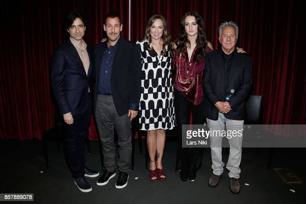 Writer and director Noah Baumbach actor Adam Sandler actress Elizabeth Marvel actress Grace Van Patten and actor Dustin Hoffman attend The Academy of...