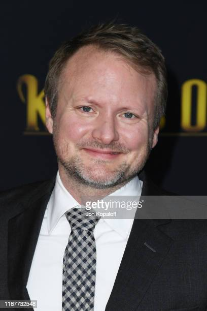 Writer and director Rian Johnson attends the premiere of Lionsgate's Knives Out at Regency Village Theatre on November 14 2019 in Westwood California