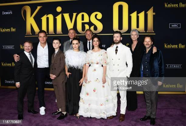 Writer and director Rian Johnson, Michael Shannon, Jaeden Martell, Daniel Craig, Katherine Langford, Don Johnson, Ana de Armas, Chris Evans, Jamie...