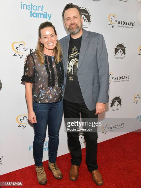 Writer and Director Sean Anders and Beth Anders attend Paramount Pictures Hosts Kidsave's Weekend Miracles Event to coincide with Instant Family home...