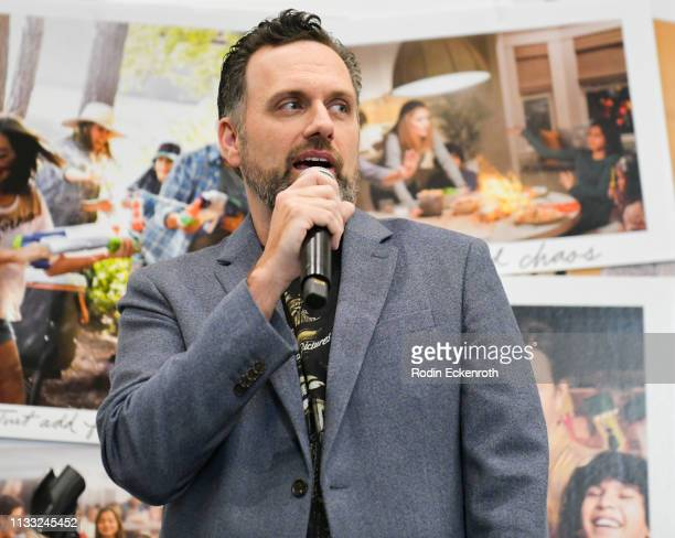 Writer and director Sean Anders speaks on stage at Paramount Pictures Hosts Kidsave's Weekend Miracles Event to coincide with Instant Family home...