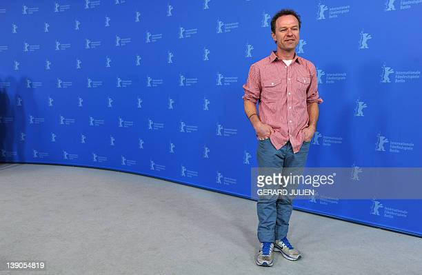 US writer and director Stephen Elliott poses during a photocall for the film Cherry presented at the International Film Festival Berlinale on...