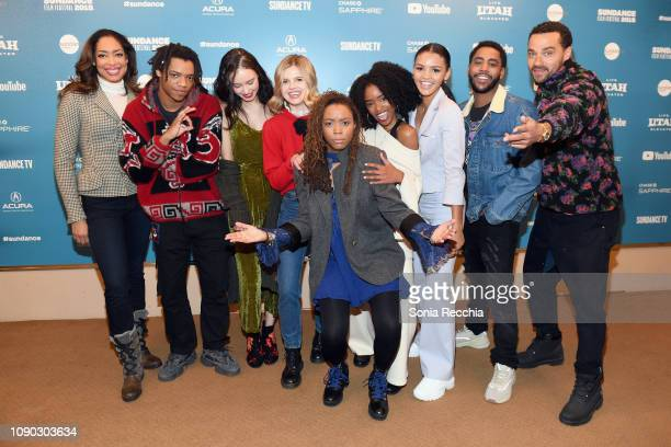 Writer and director Tayarisha Poe poses with actors Gina Torres Henry Hunter Hall Francesca Noel Ana Mulvoy Ten Lovie Simone Celeste O'Connor Jharrel...