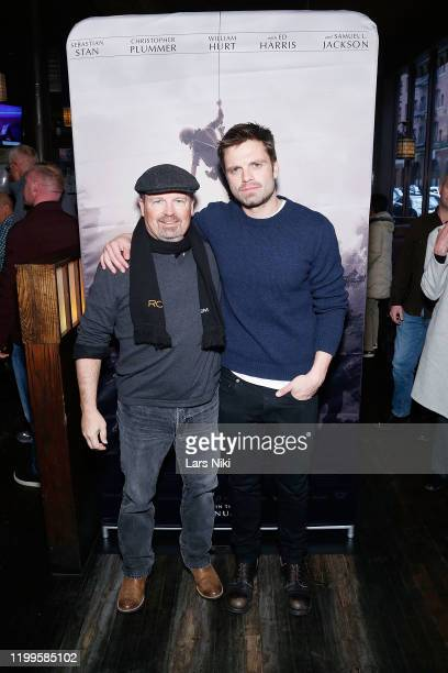 """Writer and director Todd Robinson and actor Sebastian Stan attend the after party for the special screening of """"The Last Full Measure"""" for active and..."""