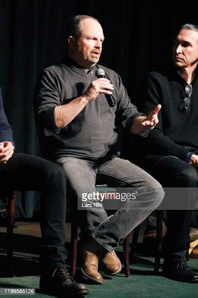 """Writer and director Todd Robinson on stage during a special screening of """"The Last Full Measure"""" for active and retired military servicemen hosted by..."""