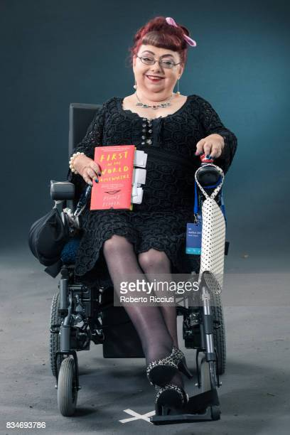 Writer and disability rights activist Penny Pepper attends a photocall during the annual Edinburgh International Book Festival at Charlotte Square...