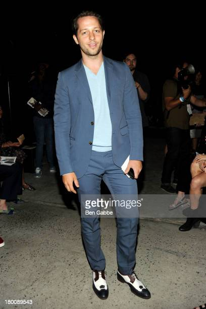 Writer and editor Derek Blasberg attends Band Of Outsiders Women's during MercedesBenz Fashion Week Spring 2014 on September 8 2013 in New York City