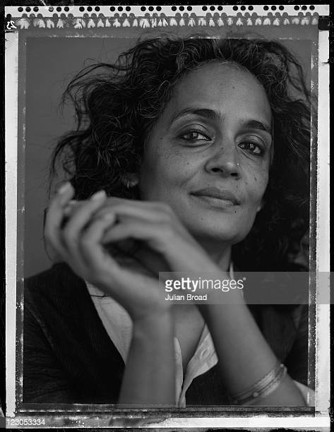 Writer and environmental campaigner Arundhati Roy is photographed on February 16 2011 for Vogue magazine in London England
