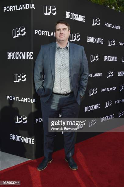Writer and executive producer Joel ChurchCooper arrives at IFC 's 'Brockmire' and 'Portlandia' EMMY FYC red carpet event at the Saban Media Center on...