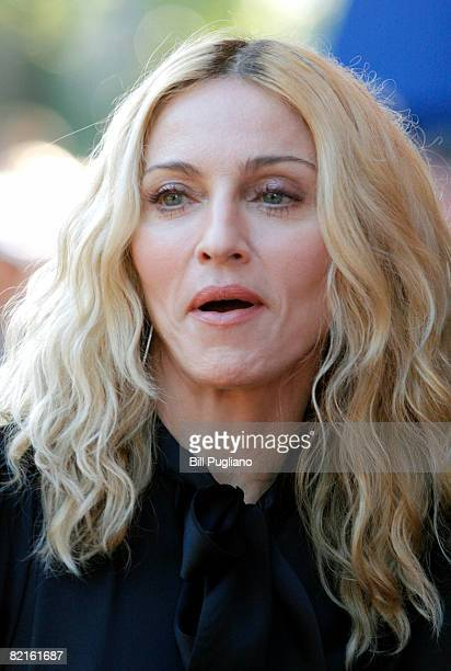 Writer and executive producer Madonna arrives at The State Theater for a screening of the new film 'I Am Because We Are' at the Traverse City Film...