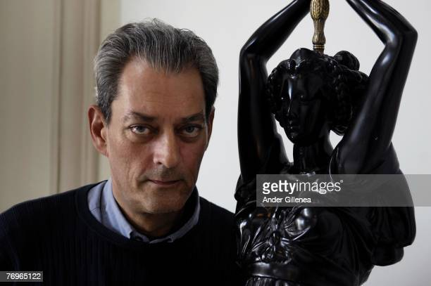 US writer and film director Paul Auster poses at Hotel Maria Cristina to promote his film 'The Inner Life of Martin Frost' during the fourth day of...