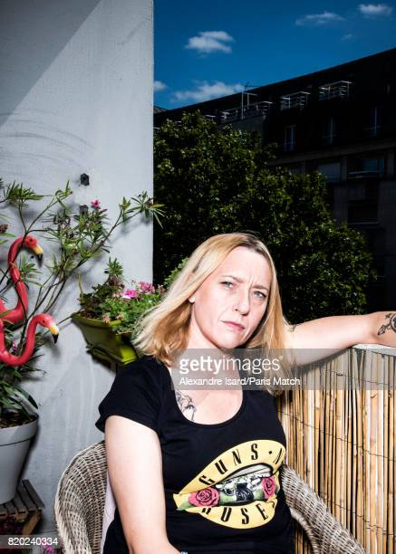 Writer and filmmaker Virginie Despentes is photographed for Paris Match on July 4 2017 in Paris France
