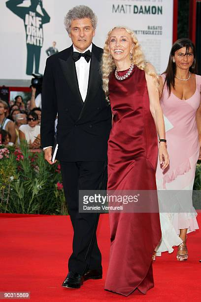 Writer and jounalist Alain Elkann and Vogue Italian edition EditorinChief Franca Sozzani attend the Opening Ceremony and 'Baaria' Premiere at the...