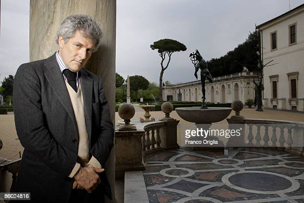 Writer and jounalist Alain Elkann poses at the end of 'Reflections On The Economic Crisis' Conference at the French Accademy of Villa Medici on April...