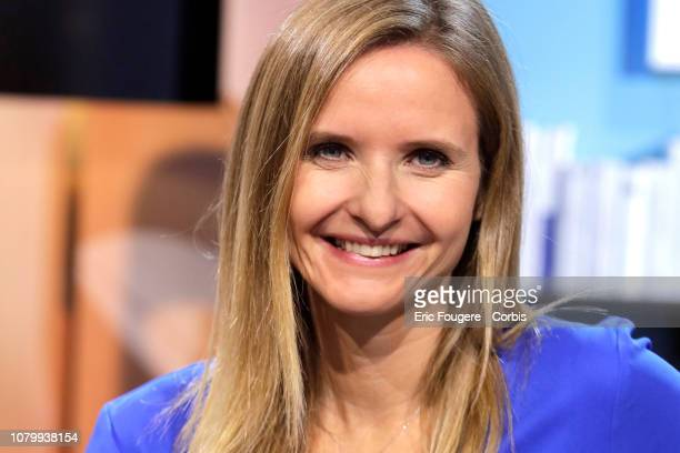 Writer and Journalist Amelie Cordonnier poses during La Grande Librairie on France 5 presented by Francois Busnel in Paris France on