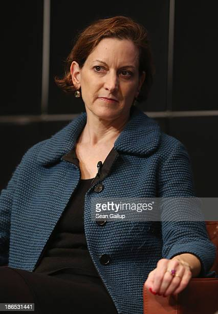 Writer and journalist Anne Applebaum attends a discussion of her new book 'Iron Curtain The Crushing of Eastern Europe 19441956' at the Bertelsmann...